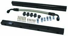 LS1/LS2/LS6 Billet Aluminum High Performance Fuel Rail Kit With Mid Pipe BLACK