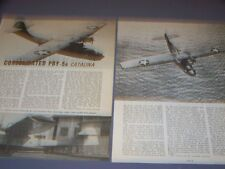 VINTAGE..CONSOLIDATED PBY-5A CATALINA...3-VIEWS/DETAILS..RARE! (501M)