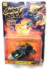 Vintage Toy Biz MARVEL COMICS Ghost Rider toy Figure & Bike Rip cord action RARE