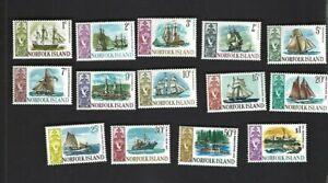 Norfolk Island sc#100-13 (1967-8) Complete MNH