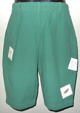 New 100% Cotton Green Boys Girls Kids Summer Holiday Shorts Large 8-10 Years
