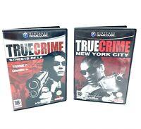 Lot Série True Crime 2 NYC LA jeux Nintendo Gamecube PAL FR