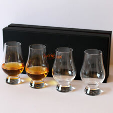 The Glencairn Official Whisky Nosing Glass - Set of 4 (Black Presentation Box)