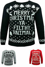 MEN WOMEN NOVELTY CHRISTMAS KNITTED JUMPER SWEATER XMAS/WINTER PULLOVER