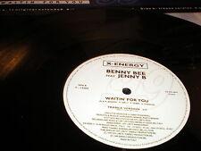 """Benny Bee feat Jenny B Waitin' For You 12"""" VINYL Italodance X Energy 3 mixes"""
