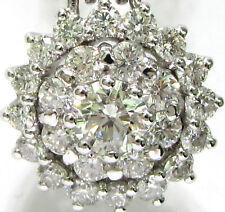 █$8200 2.06CT CLASSIC CLUSTER DIAMOND PENDANT +CHAIN █