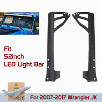 "For Jeep 07-18 Wrangler JK Windshield Mounting Bracket 52"" Led Work Light Bar"
