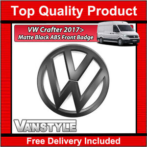 FOR VW CRAFTER 2017> FRONT BADGE MATTE SATIN BLACK REPLACEMENT BADGE NOT CHROME