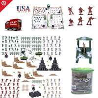 250 pcs Military Playset Plastic Toy Soldiers Army Men 4cm Figures & Accessories