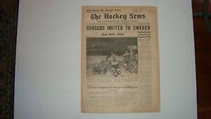 THE HOCKEY NEWS December 1 1956 Vol.10 #9 Elmer Vasko Ted Lindsay Jacques Plante