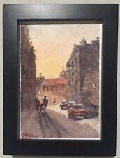 "Watercolor Painting Poland ORIGINAL ""TARNOW"" 5x7 By John Harrison"