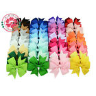 20PCs Baby Big Hair Bows Boutique Girls Alligator Clip Grosgrain Ribbon Headband