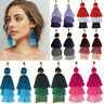 Bohemian Tassel Earring Women 3 Layers Colorful Fringe Dangle Earrings Jewelry