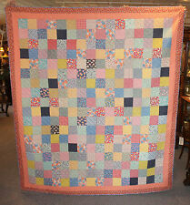Antique Early Pieced Block Quilt with Provenance