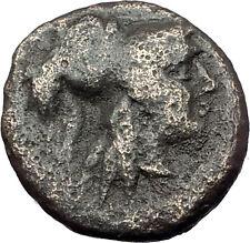 Antigonos II Gonatas 274BC Macedonia Ancient Greek Coin ATHENA PAN TROPHY i61777
