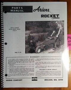 Ariens Rocket Rotary Tiller 901001 Parts Manual PM-17-73