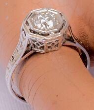 Art Deco Ladies Diamond 14k White Gold Ring - 1/2 kt size 5 ring.