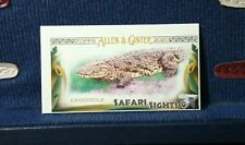 2020 Topps Allen & Ginter #SS-3 Safari Sights Mini Crocodile MISCUT MISPRINT