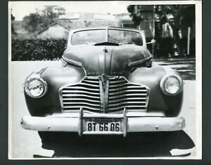 1941 Buick Convertible Car w/ California License Vintage Photo 999174