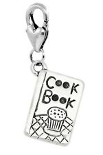 Cookbook Chef Recipe Book Cooking Kitchen Cook Lobster Clip Charm for Bracelet