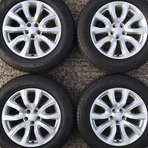 "Genuine Range Rover Evoque 18"" Alloy Wheels Tyres 235 Discovery Sport Freelander"