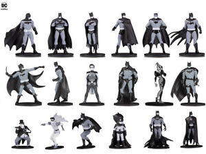 6x - DC Comics Batman Black & White 3.75 PVC New Mini Figure Series 1 2 and 3