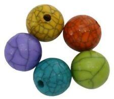 Cuentas plásticos redondos para joyería artesanal