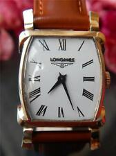 LONGINES | Tonneau Ladies Watch | NOS Gold Filled Swiss Case New Leather Band