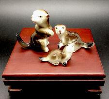 Vintage Seal/Otter Family Bone China Japan Figure Labeled! Adorable