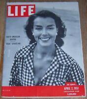 Life Magazine April 2, 1951 Uruguay/Missouri/NY Giants/Josephine Baker