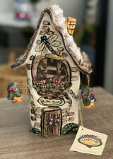 """Blue Sky Clayworks Heather Goldminc """"Welcome Friends"""" House 2000 Dragonfly"""