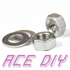 Stainless Steel Hex Nuts or Flat Washers M3 - M30 For Bolts & Threaded Bar Rod