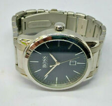 Mens Hugo Boss Black Dial Stainless Steel Date Watch