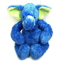 """2002 Mary Meyer Blue Elephant Plush with Stretchy Arms Legs 12"""" Floppy Security"""