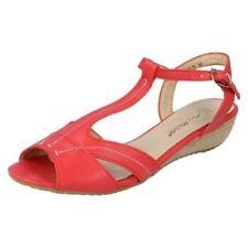 37 Sandali e scarpe rosse in pelle sintetica per il mare da donna