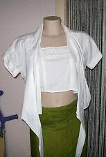 Wickelbluse,gr.L,Weiß,New Look,100%Baumwolle,Kuze Variante mit innen Teil,