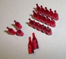 1:18 20x einzelne Flaschen Limoflaschen Bierflaschen rot