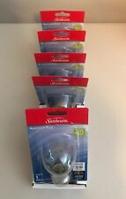 (6) NEW Sunbeam CLEAR Appliance Bulb 40W - 320 Lumens