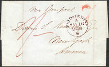 1846 UNSTAMPED WRAPPER TO NEW YORK FROM EDINBURGH VIA LIVERPOOL