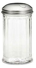 Zucchero DISPENSER Scanalati vetro POURER Shaker in acciaio inox coperchio laterale della patta 12oz