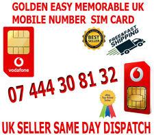 GOLDEN EASY MEMORABLE UK VIP MOBILE PHONE NUMBER 07 444 30 81 32  PLATINUM SIM