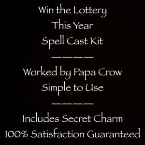 Win Lottery Lotto This Year Ritual Kit Secret Charm Papa Crow Full Moon Money