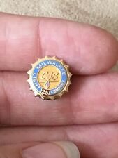 10k Milwaukee Gas Light Company 25 Year Service Pin oTo Vintage Wow! So Rare!