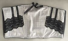 Waist Corset Soft Belt/Bedroom Accessory In Grey/Black Color Lace Size M