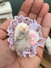 Ooak needle felted mouse Baby new for dollhouse 1:12 Miniature tiny wee