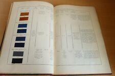 CASSELLA Catalogue de 98 ECHANTILLONS de COTON Couleurs Nuancier TEINTURE 1905