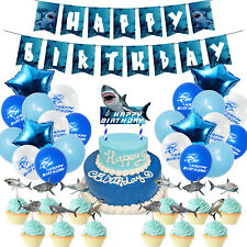 Shark Party Supplies for Kids, 26 pcs Birthday Decorations, Shark Theme Birthday