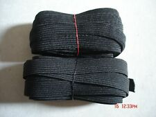 LOT OF 15 yards.BLACK 1/2 Inch Width Elastic band