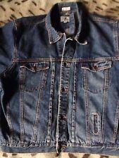 Backroad Blues Denim Jacket Check Plaid Tartan Lined Western Trucker Very Grunge