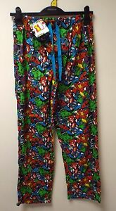 NEW MEN'S EX-SHOP MARVEL LOUNGE PANTS PJ BOTTOMS SIZES: SMALL up to XL RRP £14